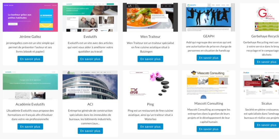 Sites réalisés par WAGA4
